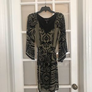 HALE BOB SILK BLEND EMBELLISHED MIDI DRESS NWOT
